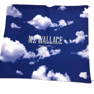 MZ Wallace Dust Bag Blue With Clouds Draw String